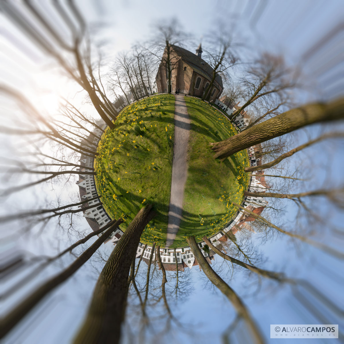 Mini world of a park in Bruges