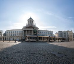 Panoramic of Place Royale in Bruxelles